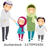 illustration of a muslim... | Shutterstock .eps vector #1175992450