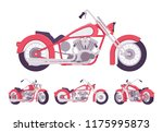 chopper custom motorcycle... | Shutterstock .eps vector #1175995873