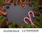 christmas tree branches on... | Shutterstock . vector #1175995909