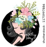 cute girl illustration for... | Shutterstock .eps vector #1175997886