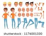 teenager boy character... | Shutterstock .eps vector #1176001330