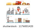 bread production process stages ... | Shutterstock .eps vector #1176001420