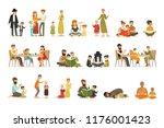 vector flat people characters... | Shutterstock .eps vector #1176001423