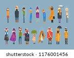 cartoon flat people characters... | Shutterstock .eps vector #1176001456