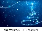the magic christmas tree | Shutterstock .eps vector #117600184