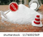 stop sign on the sugar  warned... | Shutterstock . vector #1176002569