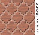 interior wall panel pattern  ... | Shutterstock . vector #1176004039