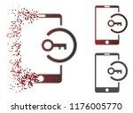 key login smartphone icon in... | Shutterstock .eps vector #1176005770