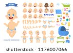 cute young male baby boy... | Shutterstock .eps vector #1176007066