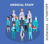 set of doctor characters.... | Shutterstock .eps vector #1176007099