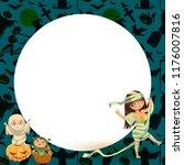 cartoon family celebrating... | Shutterstock .eps vector #1176007816