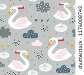 seamless childish pattern with... | Shutterstock .eps vector #1176008743