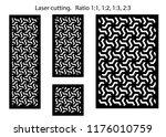 set of decorative vector panels ... | Shutterstock .eps vector #1176010759