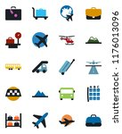 color and black flat icon set   ... | Shutterstock .eps vector #1176013096