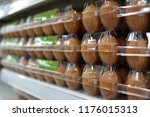 stack of eggs pack on grocery... | Shutterstock . vector #1176015313