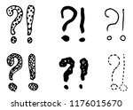 exclamation marks and question... | Shutterstock .eps vector #1176015670