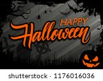 halloween celebrate banner with ... | Shutterstock .eps vector #1176016036