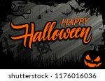 halloween celebrate banner with ... | Shutterstock .eps vector #1176016036