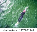 swimmer in the sea | Shutterstock . vector #1176021169