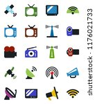 color and black flat icon set   ... | Shutterstock .eps vector #1176021733