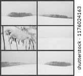 Collage Winter Landscapes Cloudy - Fine Art prints