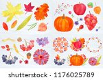 thanksgiving rustic fall big... | Shutterstock . vector #1176025789