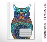 notebook cover template with...   Shutterstock .eps vector #1176027943