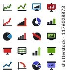 color and black flat icon set   ... | Shutterstock .eps vector #1176028873