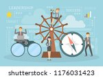 leadership concept. leading a... | Shutterstock .eps vector #1176031423