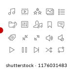 web   mobile icons    red point ... | Shutterstock .eps vector #1176031483