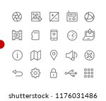 web   mobile icons    red point ... | Shutterstock .eps vector #1176031486