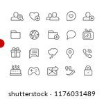social communications icons   ... | Shutterstock .eps vector #1176031489
