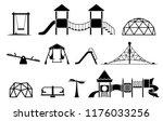 kid playground equipment icons. ...   Shutterstock .eps vector #1176033256