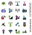 color and black flat icon set   ... | Shutterstock .eps vector #1176036520