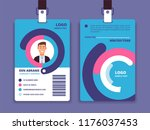 corporate id card. professional ... | Shutterstock .eps vector #1176037453