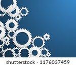 gears technology background.... | Shutterstock .eps vector #1176037459