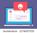 laptop virus alert. malware... | Shutterstock .eps vector #1176037510