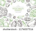 vegetables hand drawn...   Shutterstock .eps vector #1176037516