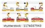 car factory. robotic automotive ... | Shutterstock .eps vector #1176037543