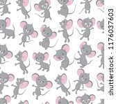 cute baby mouse seamless... | Shutterstock .eps vector #1176037603