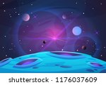space and planet background.... | Shutterstock .eps vector #1176037609