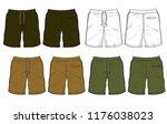 shorts vector template for... | Shutterstock .eps vector #1176038023