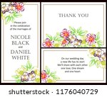 romantic wedding invitation... | Shutterstock .eps vector #1176040729