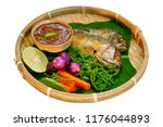 tradition thai food   nam prig... | Shutterstock . vector #1176044893