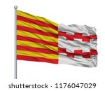 hamont achel city flag on... | Shutterstock . vector #1176047029