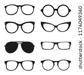 different glasses frames | Shutterstock .eps vector #1176049360