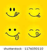 set of yummy smile. delicious ... | Shutterstock .eps vector #1176050110