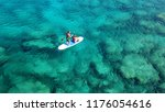 aerial drone photo of couple... | Shutterstock . vector #1176054616
