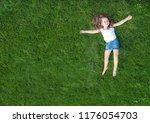 little cute child baby girl...   Shutterstock . vector #1176054703