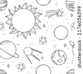 space background. hand drawn... | Shutterstock .eps vector #1176056599